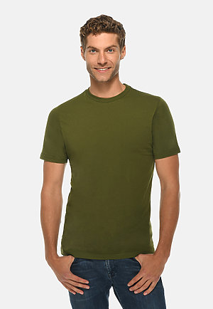 Deluxe Tee ARMY GRN front