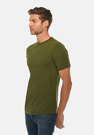 Deluxe Tee ARMY GRN side
