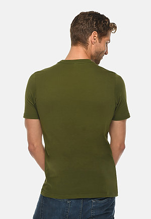 Deluxe Tee ARMY GRN back
