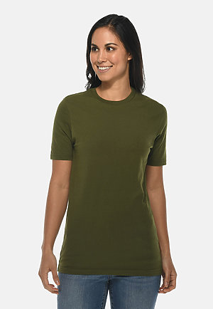 Deluxe Tee ARMY GRN frontw