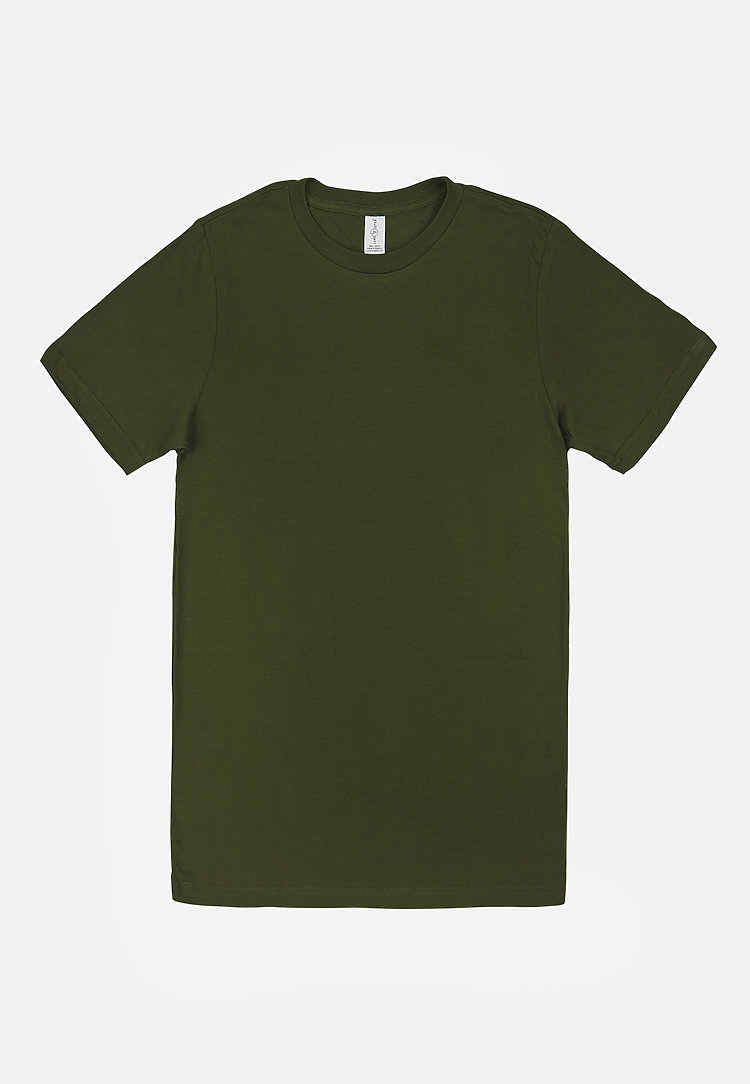 Deluxe Tee ARMY GRN flat