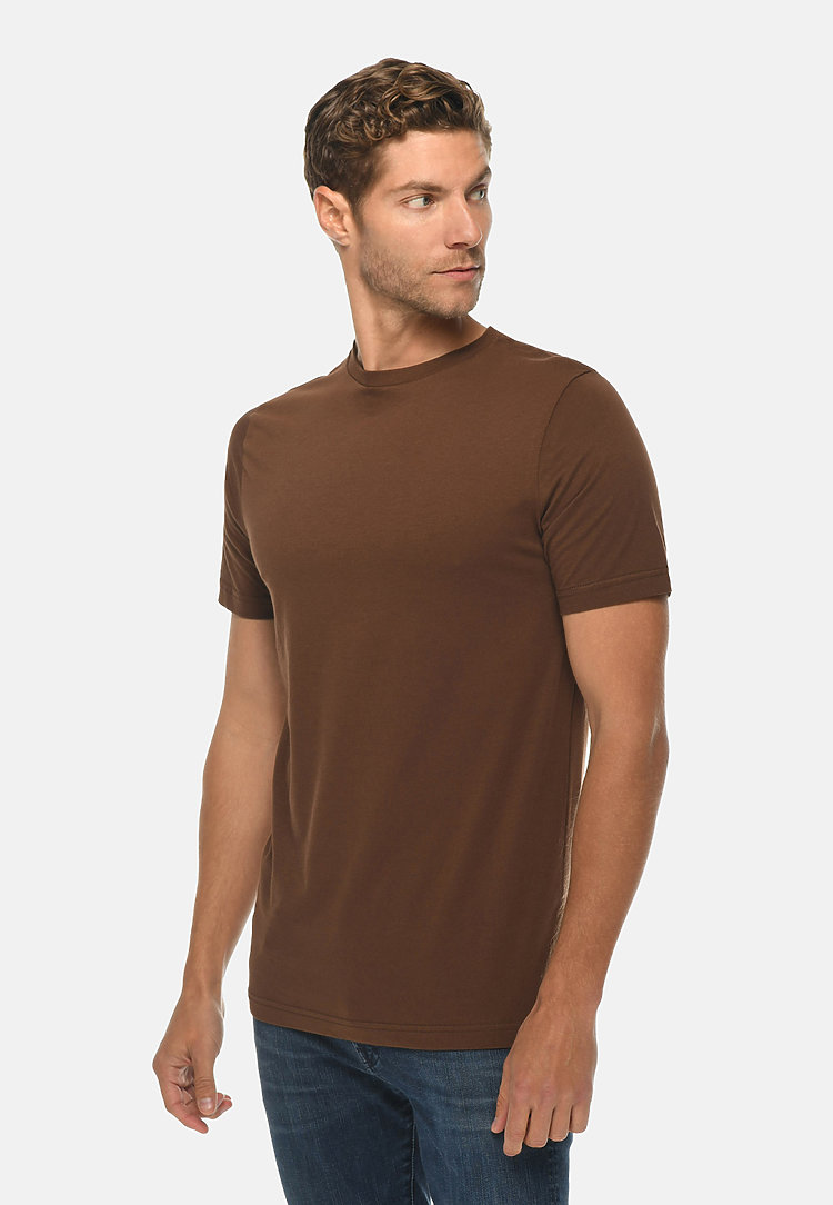 Deluxe Tee CHESTNUT side