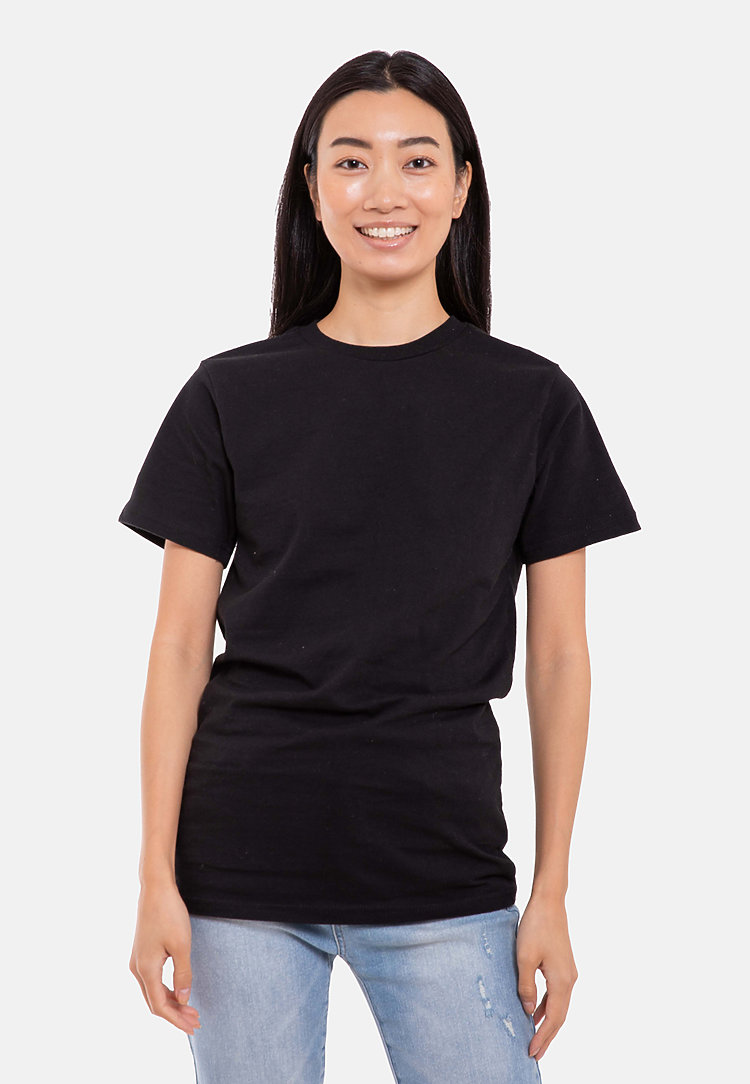 Urban Heavyweight Tee BLACK frontw