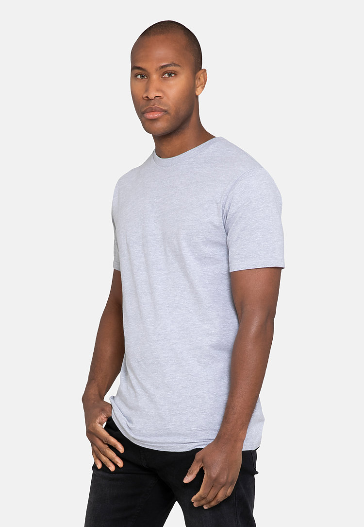 Urban Heavyweight Tee HEATHER GREY side