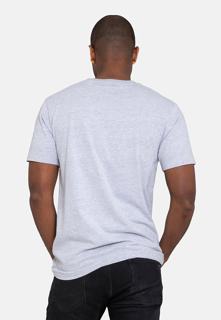 Urban Heavyweight Tee HEATHER GREY back