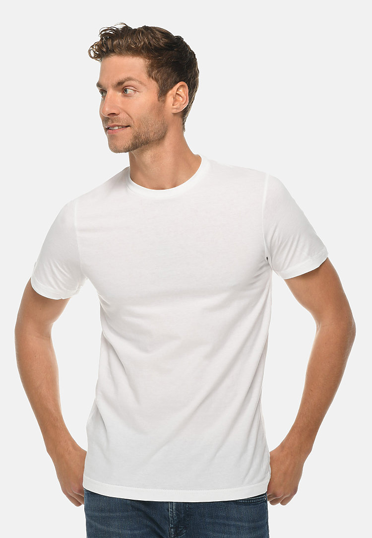 Heavy Weight Crewneck Tee WHITE front