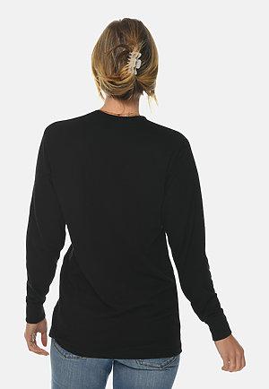 Long Sleeve Crewneck Tee BLACK backw