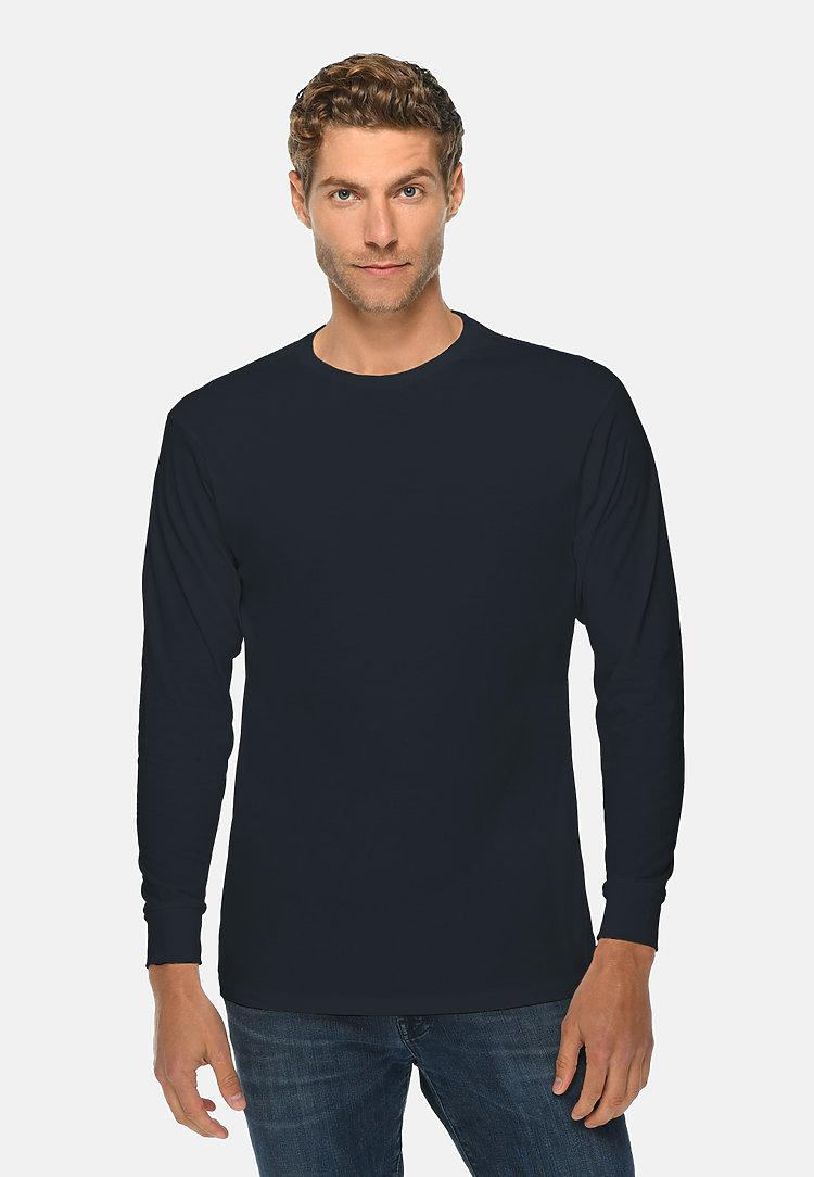 Long Sleeve Crewneck Tee NAVY BLUE front