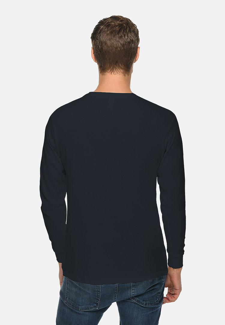 Long Sleeve Crewneck Tee NAVY BLUE back