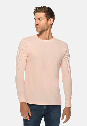 Long Sleeve Crewneck Tee PALE PINK front
