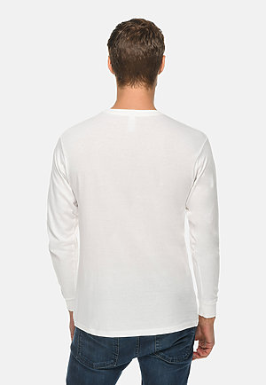 Long Sleeve Crewneck Tee WHITE back