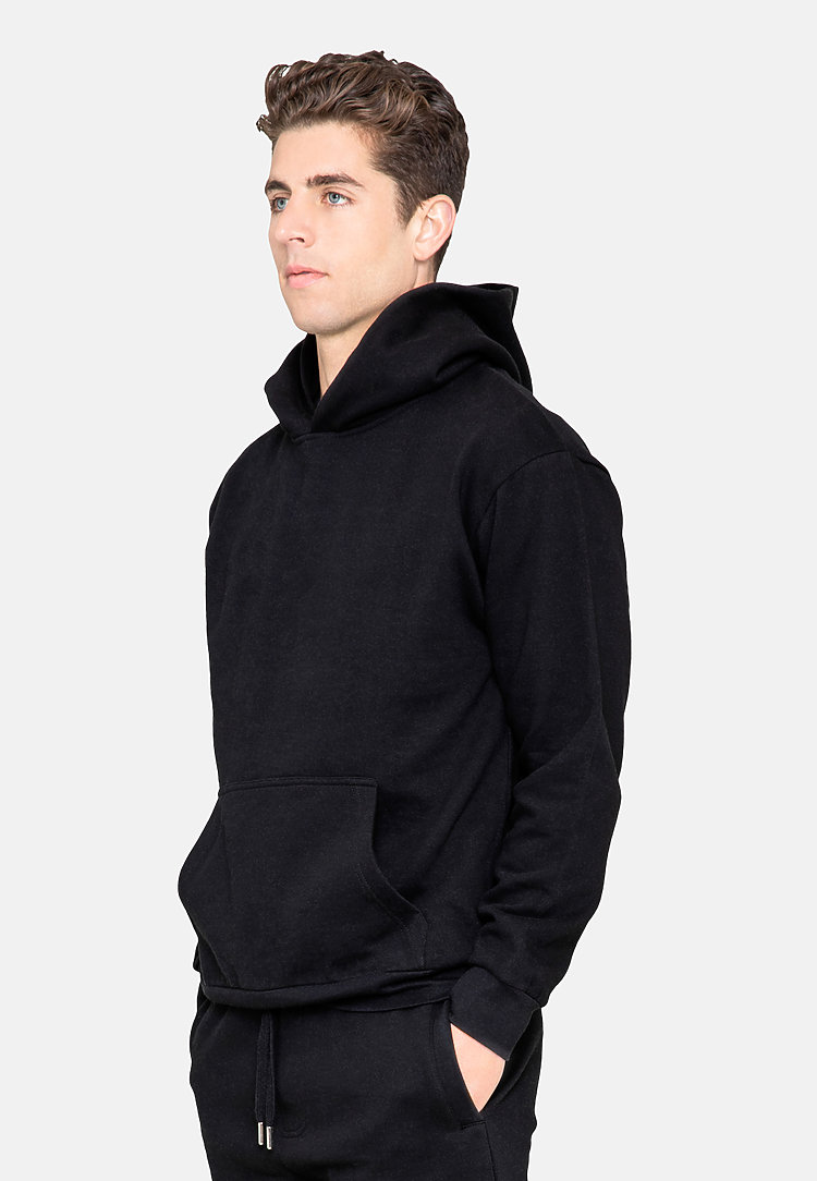 Urban Pullover Hoodie BLACK side