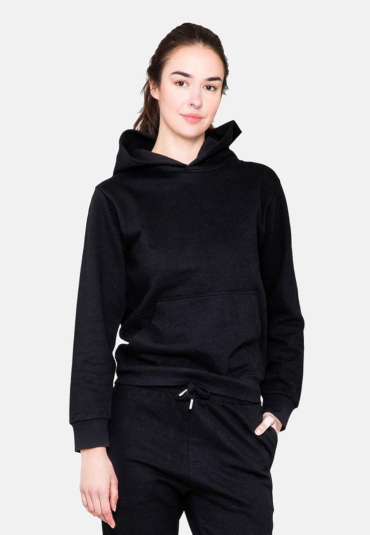 Urban Pullover Hoodie BLACK frontw