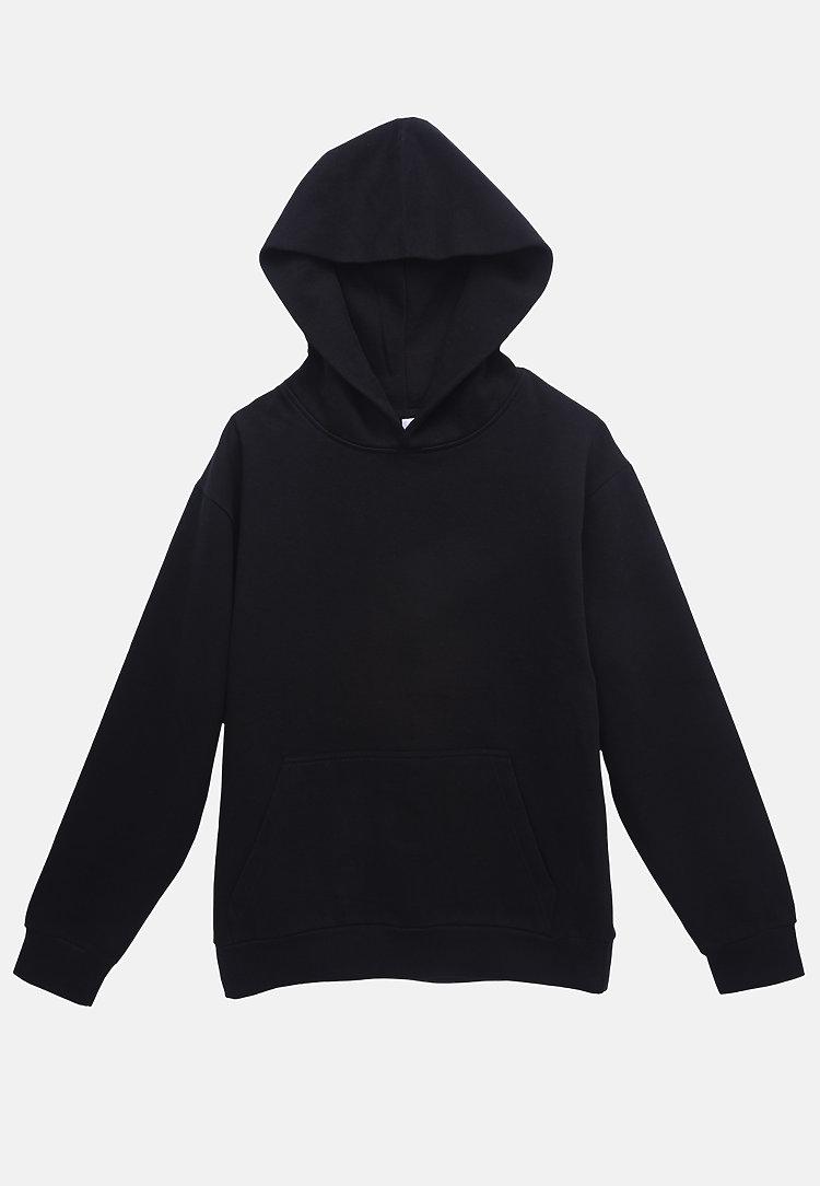 Urban Pullover Hoodie BLACK flat