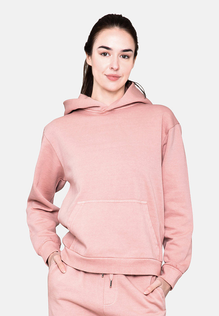 Urban Pullover Hoodie SALMON sidew