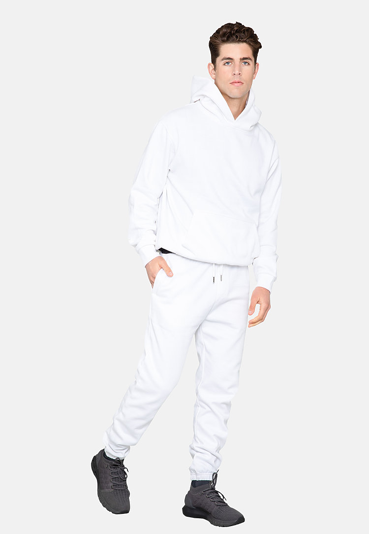 Urban Pullover Hoodie WHITE side