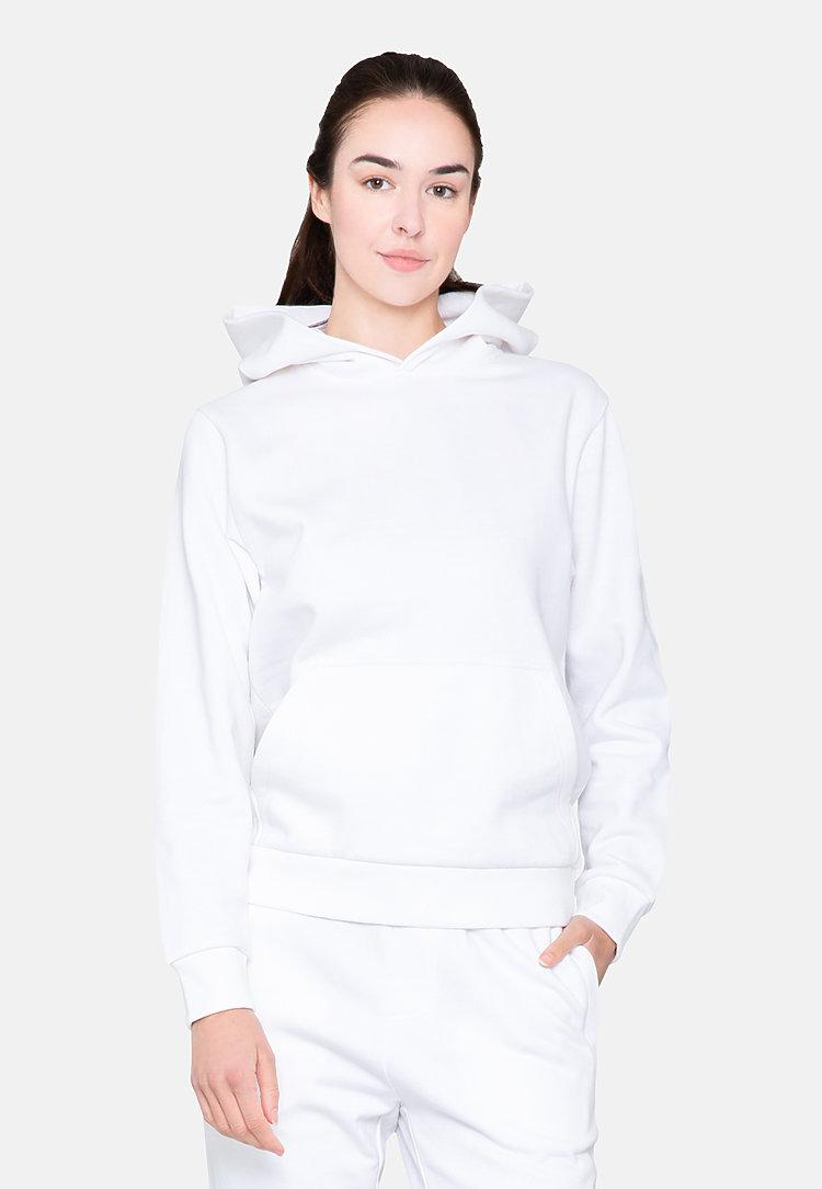 Urban Pullover Hoodie WHITE sidew
