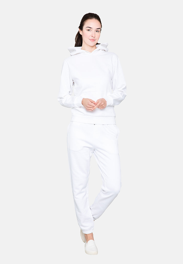 Urban Pullover Hoodie WHITE backw