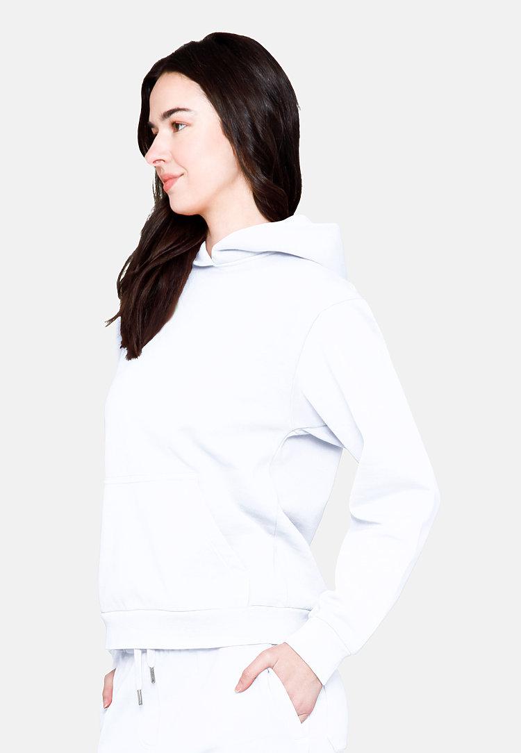 Urban Pullover Hoodie WHITE flat