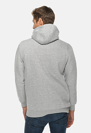 Heavyweight Hoodie HTR GREY back