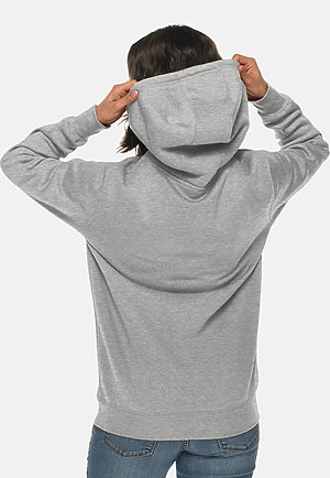 Heavyweight Hoodie HTR GREY backw