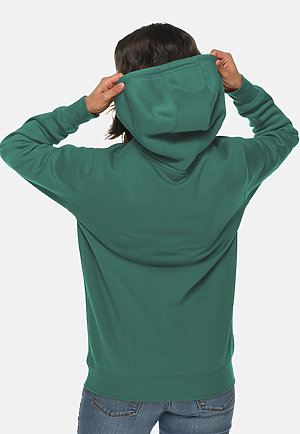 Heavyweight Hoodie TEAL backw