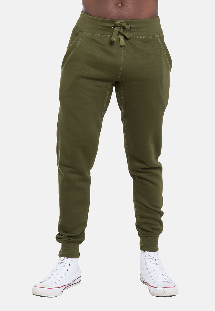 Premium Fleece Joggers ARMY GREEN front