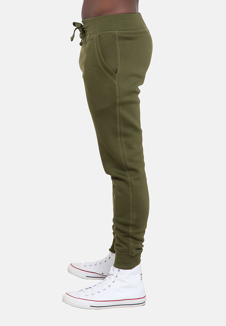 Premium Fleece Joggers ARMY GREEN side