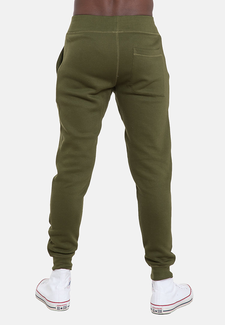 Premium Fleece Joggers ARMY GREEN back