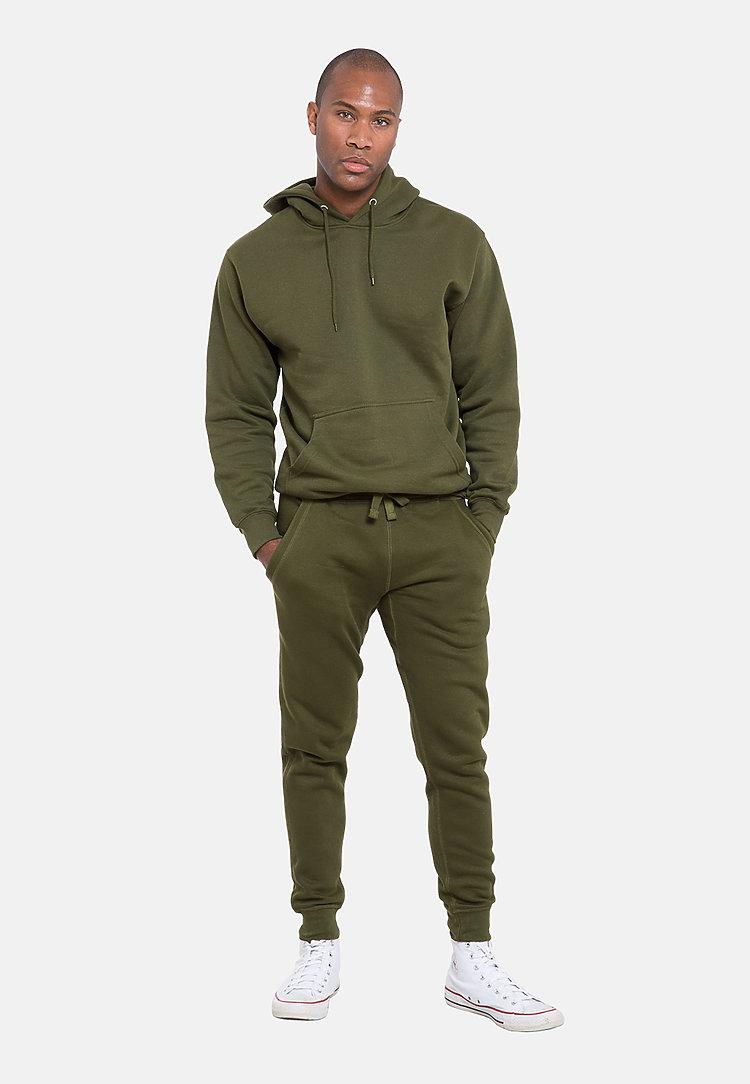 Premium Fleece Joggers ARMY GREEN frontw