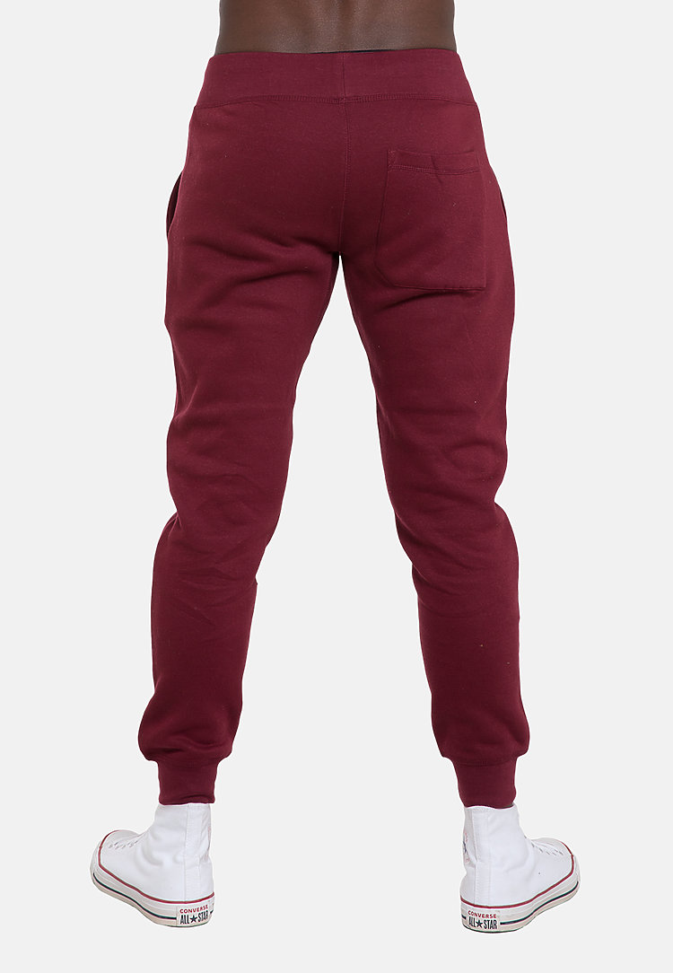 Premium Fleece Joggers BURGUNDY back