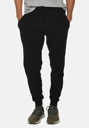 Premium Fleece Joggers BLACK front