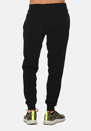 Premium Fleece Joggers BLACK back