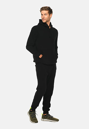 Premium Fleece Joggers BLACK frontw