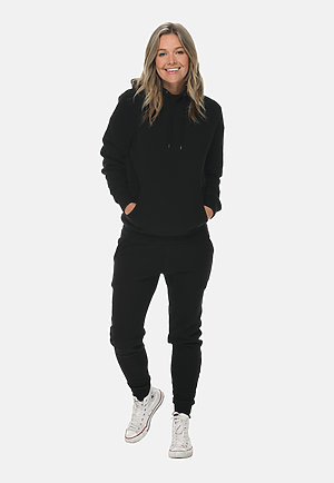 Premium Fleece Joggers BLACK sidew
