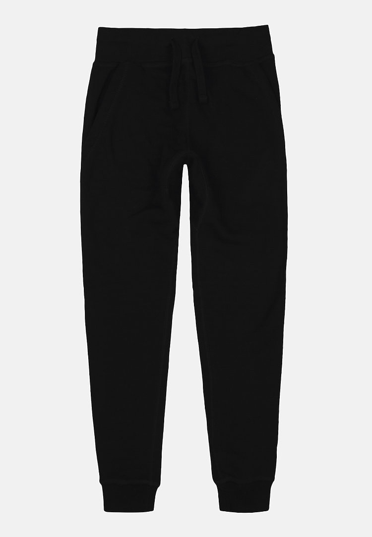 Premium Fleece Joggers BLACK flat