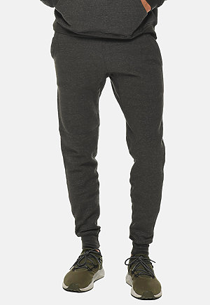 Premium Fleece Joggers CHARCOAL HEATHER front