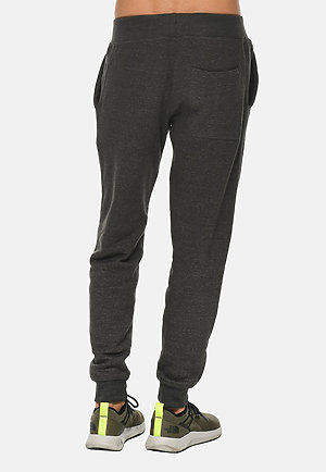Premium Fleece Joggers CHARCOAL HEATHER back
