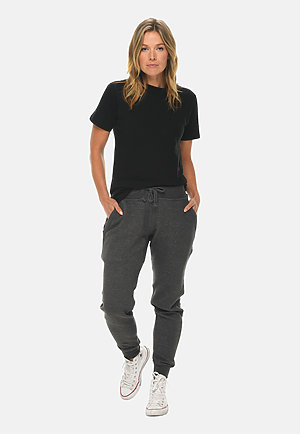 Premium Fleece Joggers CHARCOAL HEATHER frontw