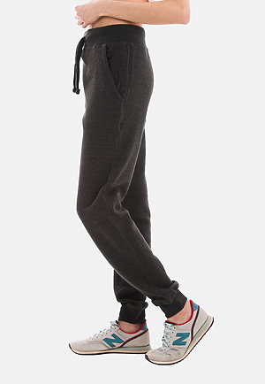 Premium Fleece Joggers CHARCOAL HEATHER sidew