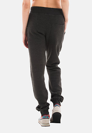 Premium Fleece Joggers CHARCOAL HEATHER backw