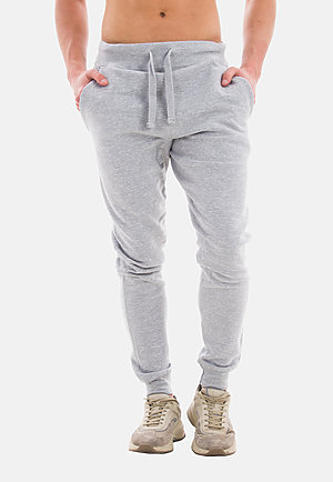 Premium Fleece Joggers HEATHER GREY front