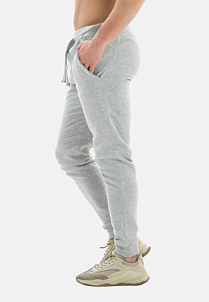 Premium Fleece Joggers HEATHER GREY side