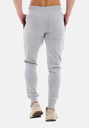 Premium Fleece Joggers HEATHER GREY back