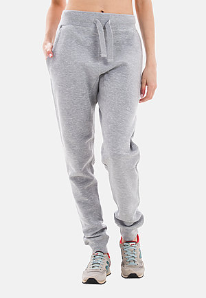 Premium Fleece Joggers HEATHER GREY frontw