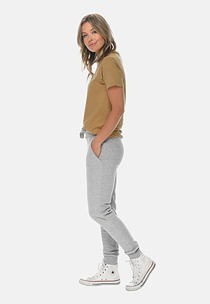 Premium Fleece Joggers HEATHER GREY sidew