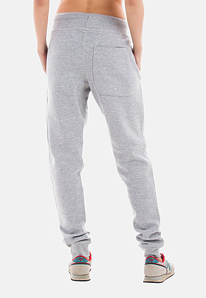 Premium Fleece Joggers HEATHER GREY backw