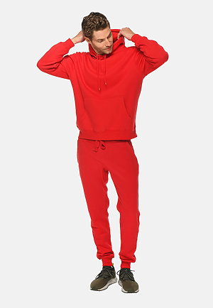 Premium Fleece Joggers RED front