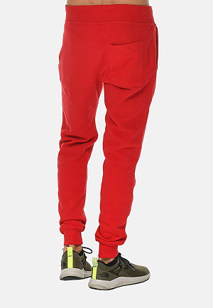 Premium Fleece Joggers RED back