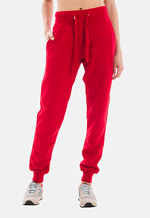 Premium Fleece Joggers RED frontw